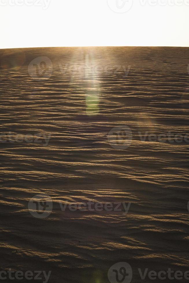 sol som kommer ner över en sanddyn, inga människor, landskap, foto