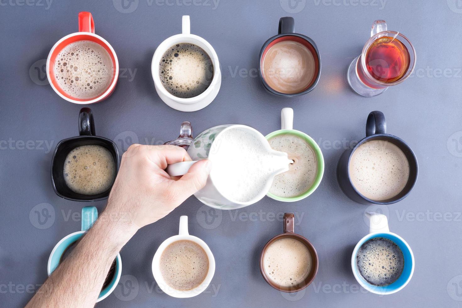 koffein för massa människor koncept foto