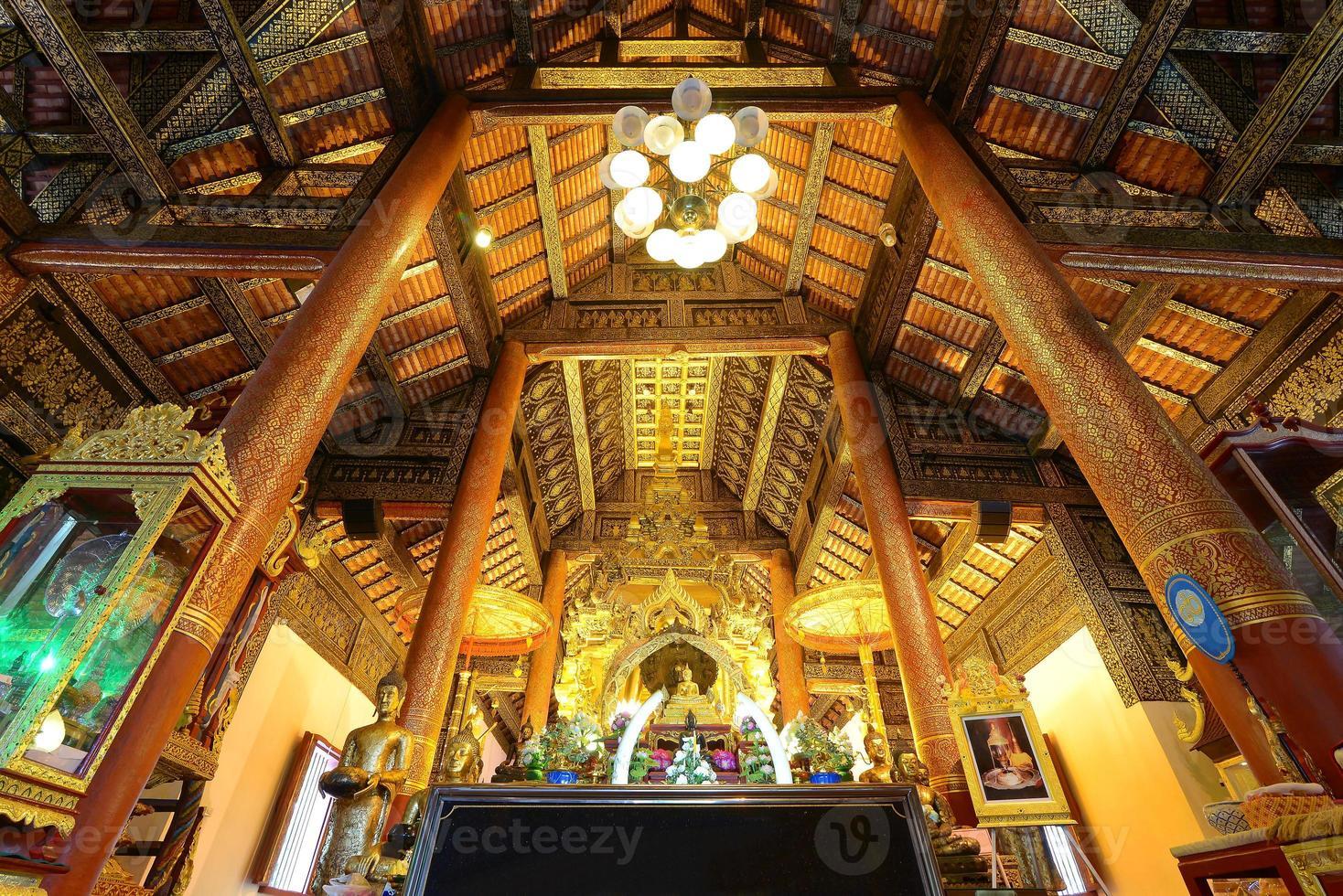 Chiang Mai, Thailand. wat phra som sri chom thong templet foto