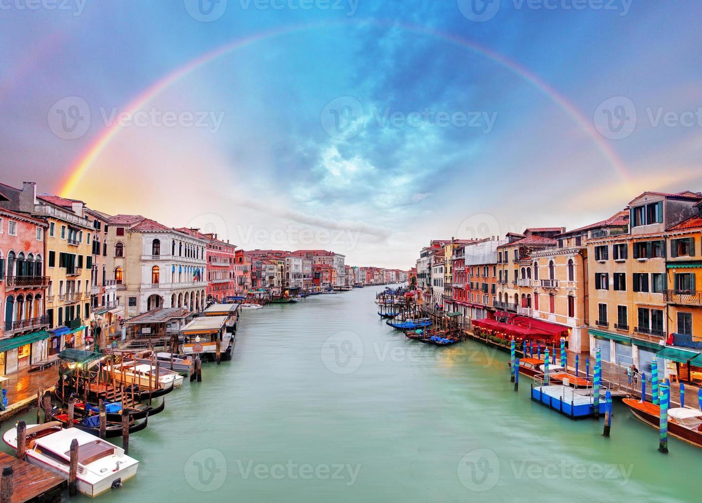 Grand Canal - Venedig från Rialto Bridge foto