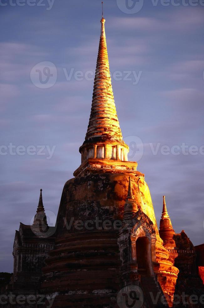 wat phra sri sanphet i Thailand foto