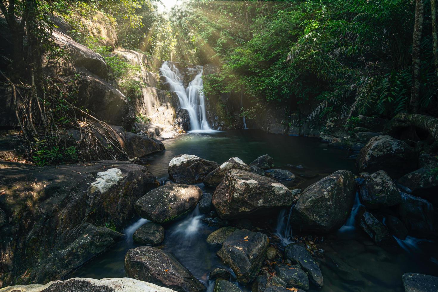 vattenfall i klong pla kang, Thailand foto
