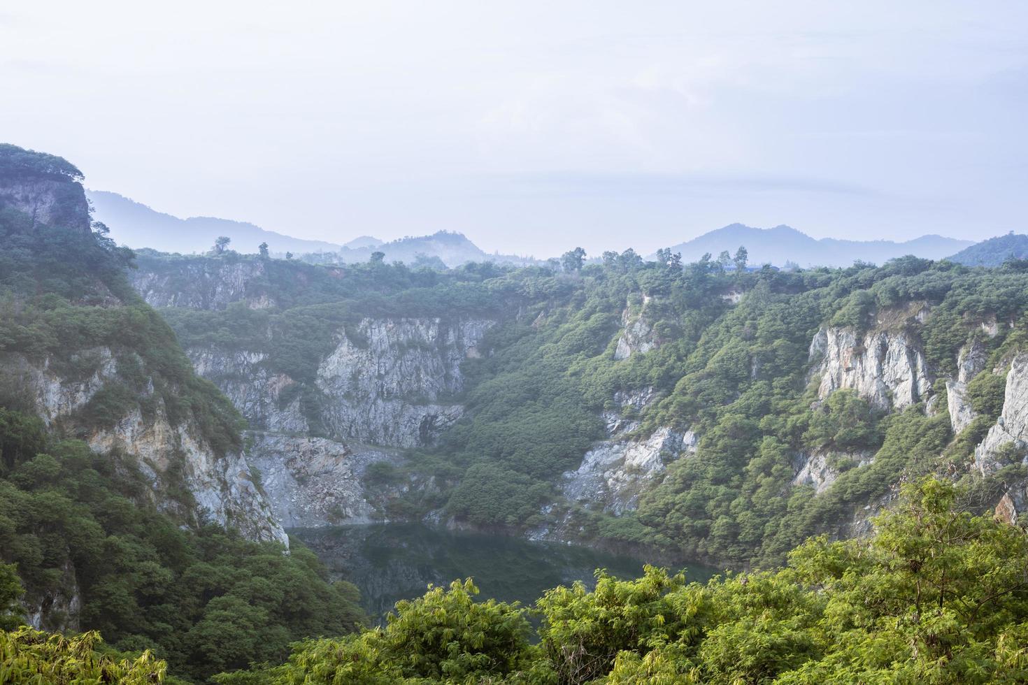 snö berg-grand canyon i Chonburi i Thailand. foto