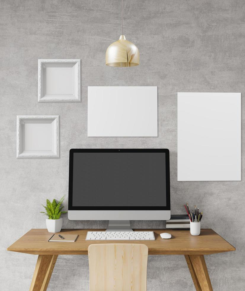 liten arbetsytastation med modern design foto