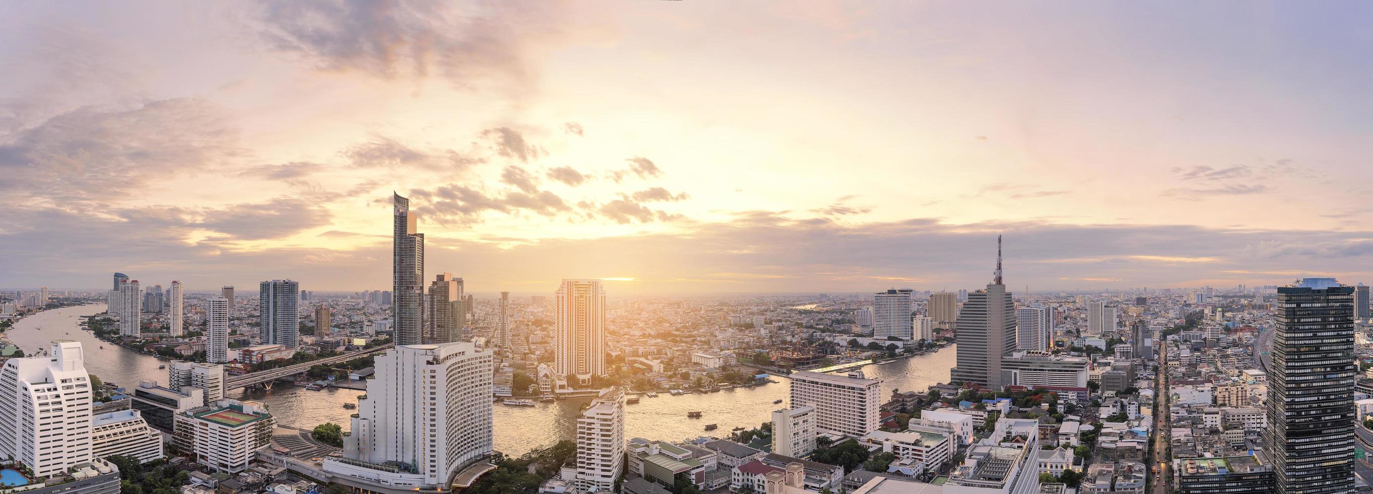 bangkok skyline panorama foto