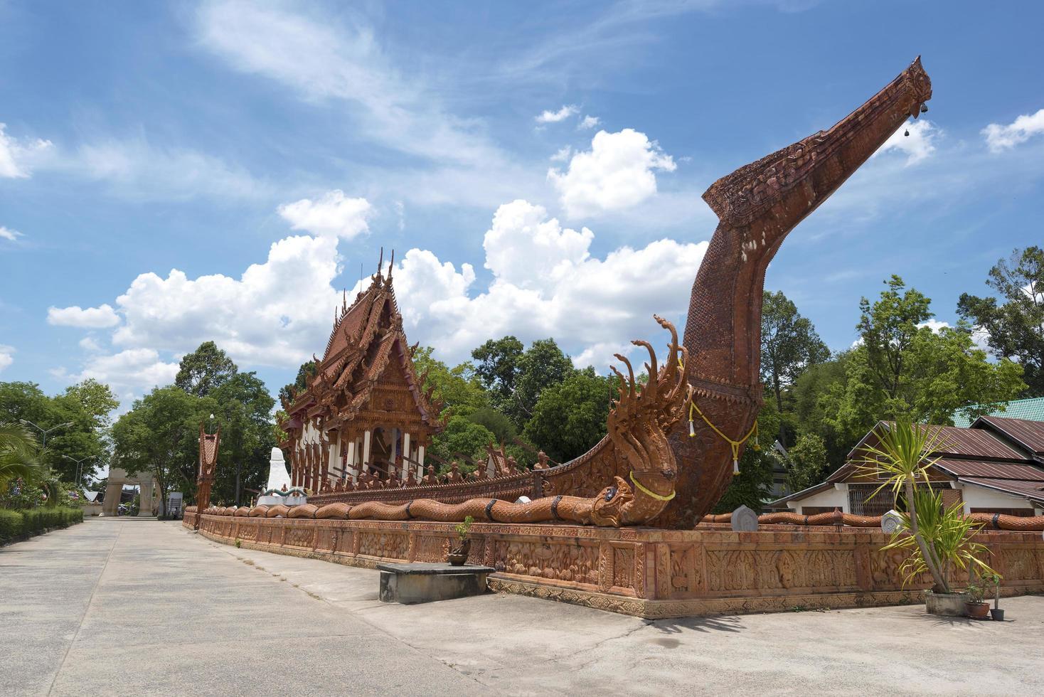 wat ban na muang buddhisttempel i ubon ratchathani, Thailand foto