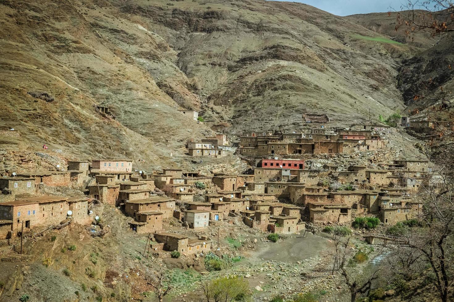 en liten by i Marocko foto