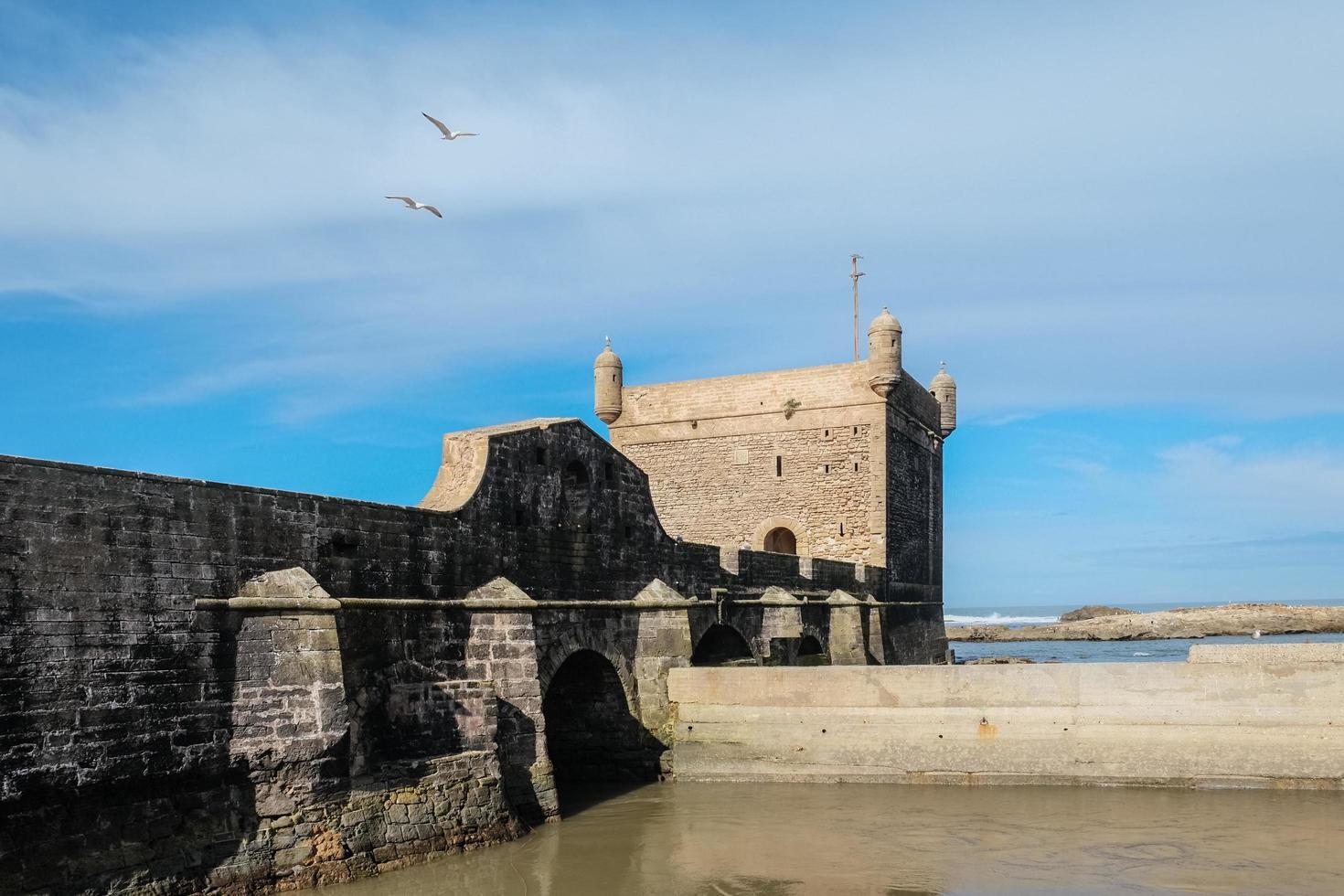 essaouira citadell nära Atlanten foto