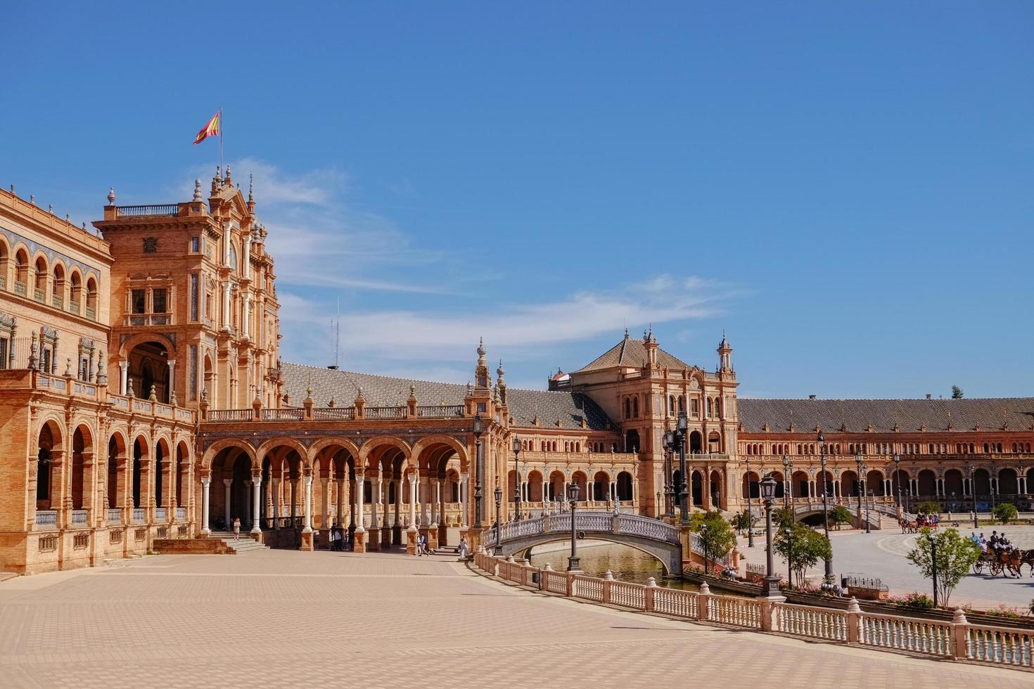 landskapsvy av plaza de espana foto