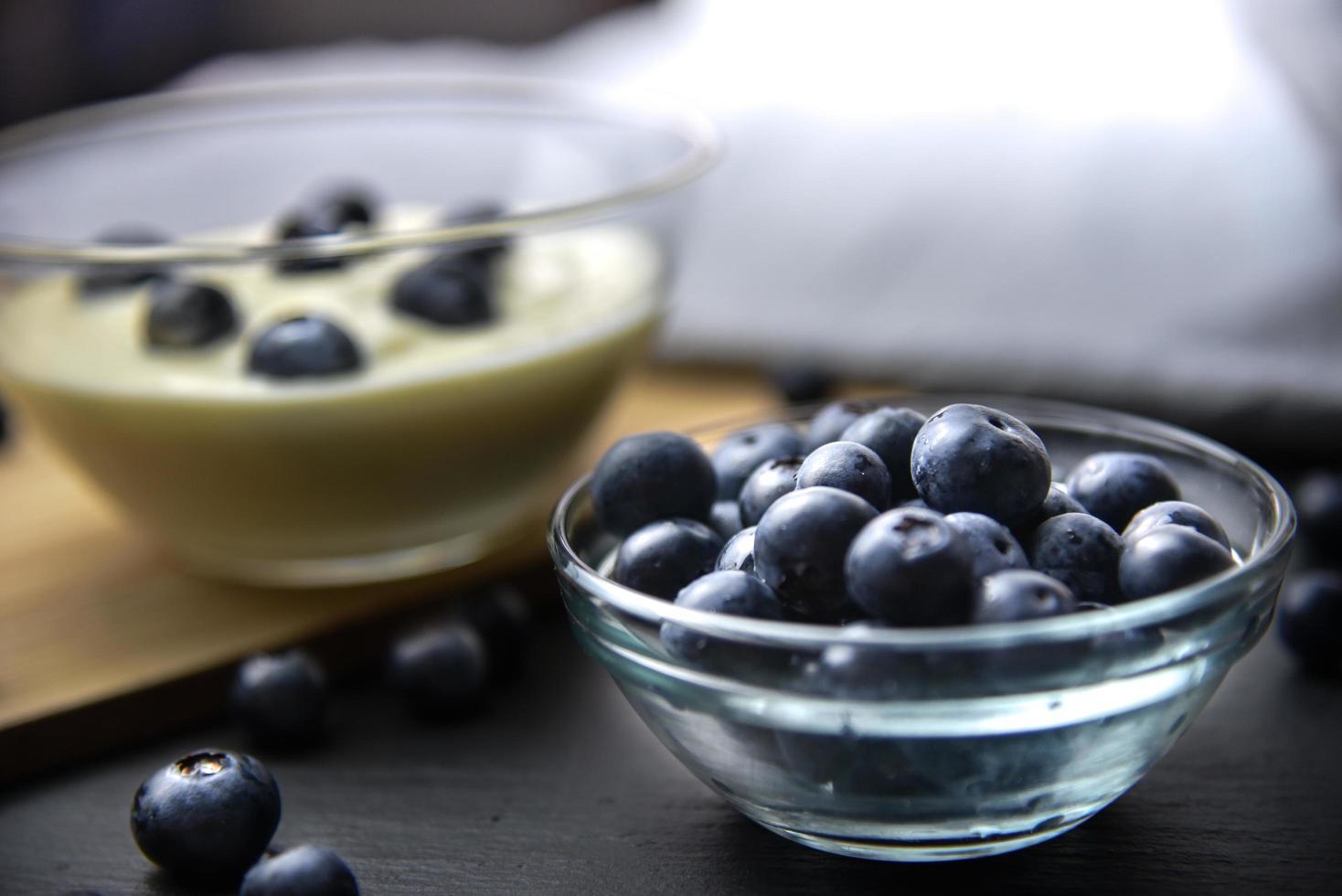 hälsosam blåbärsfrukost foto