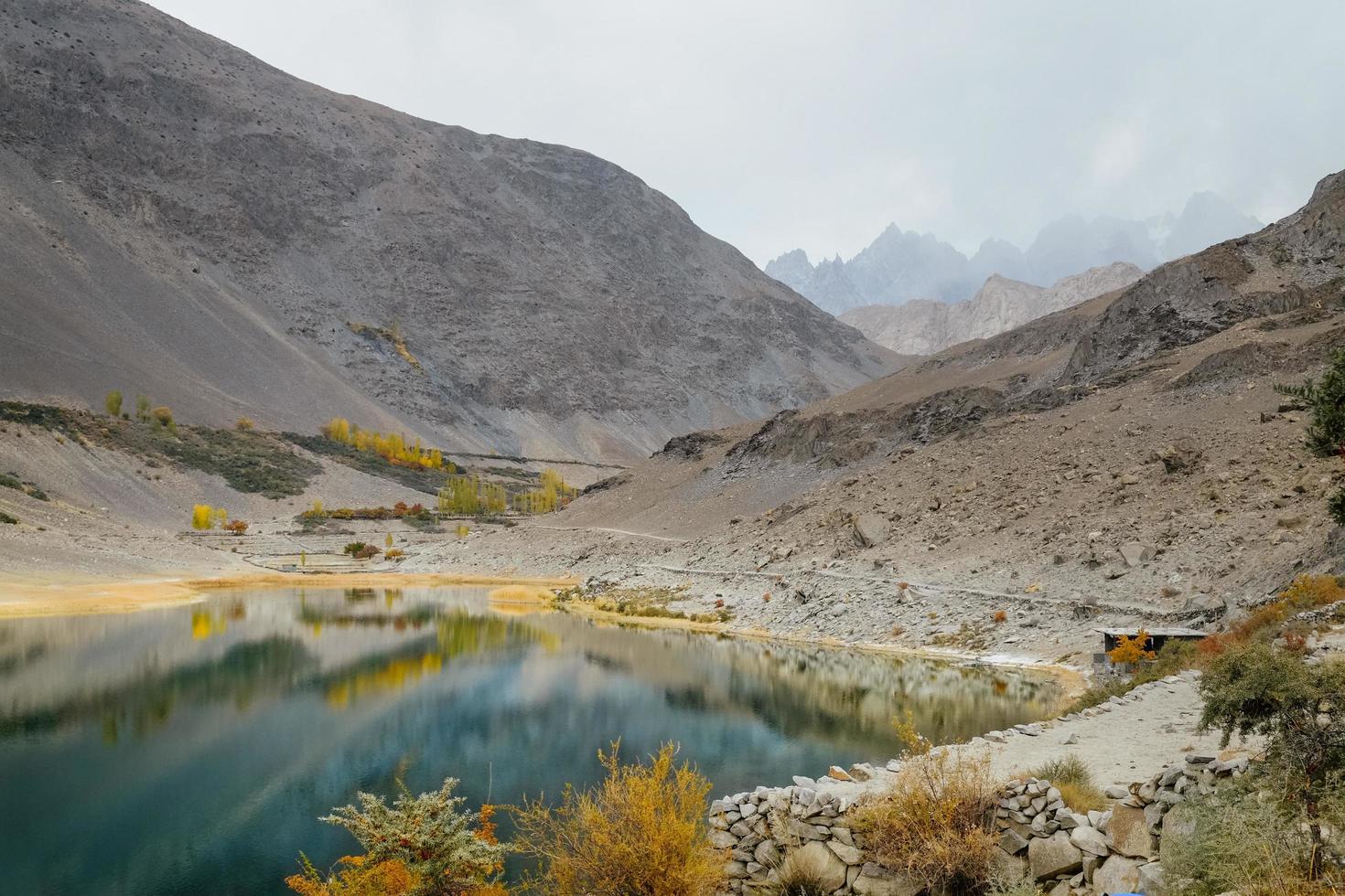 landskap utsikt över borith sjön foto