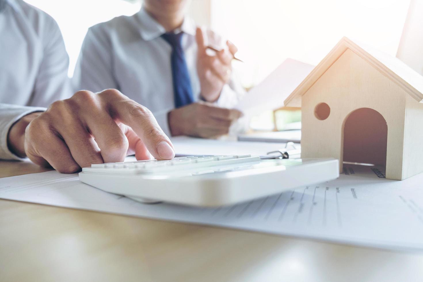 agent innehar diagram för låninvesteringar foto