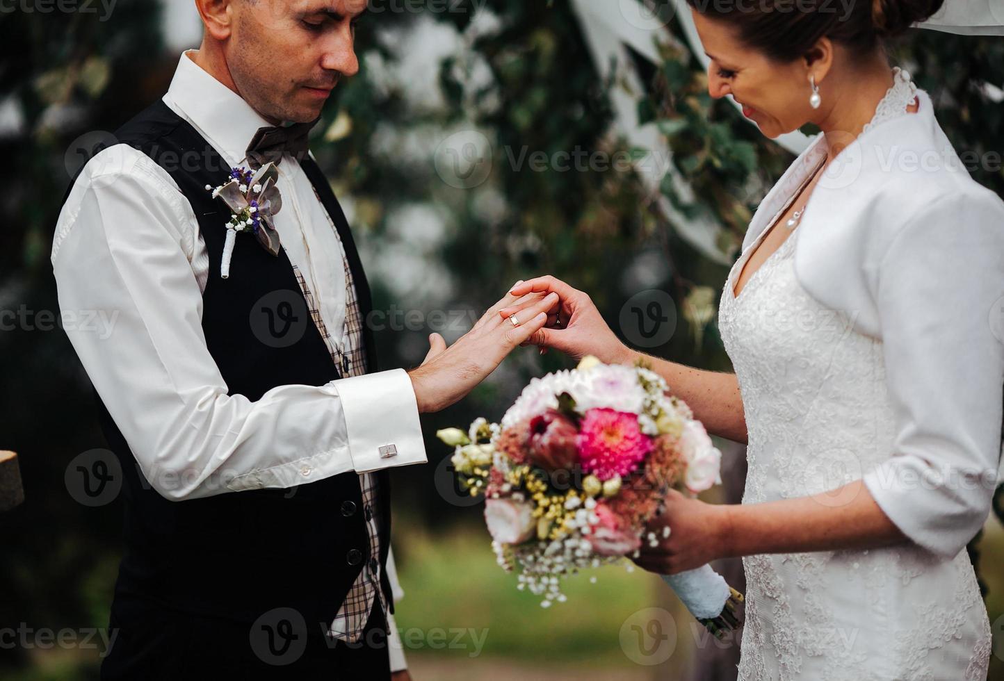 bröllopsceremoni foto