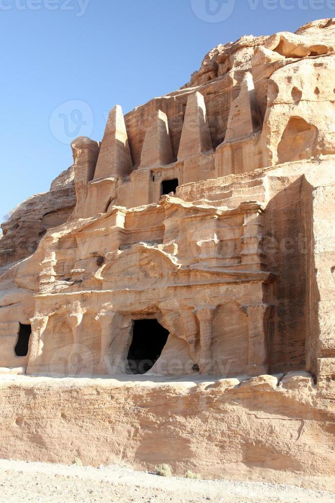 petra nabataeans huvudstad (al khazneh) Jordanien foto