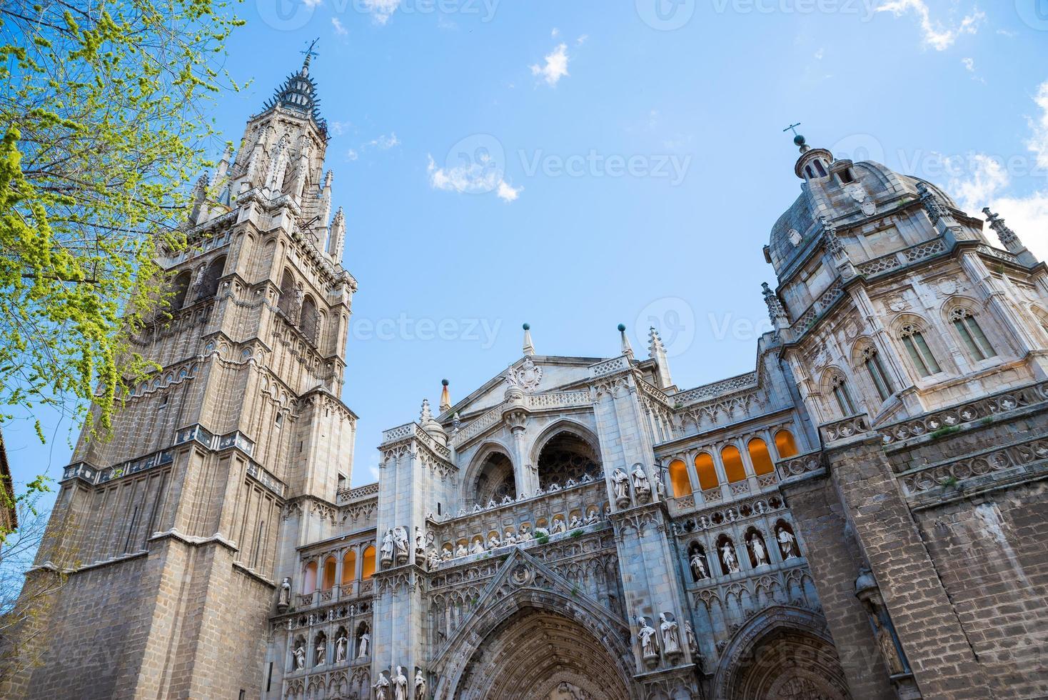 Toledo katedral fasad, spanska kyrkan foto