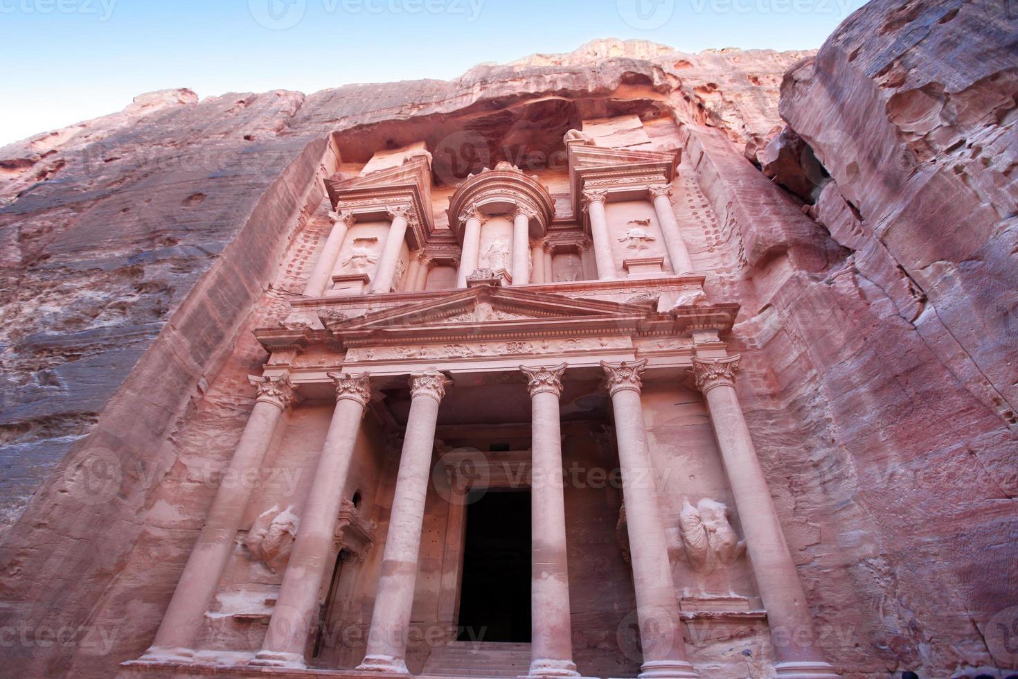 införande av kloster i Petra, Jordanien foto