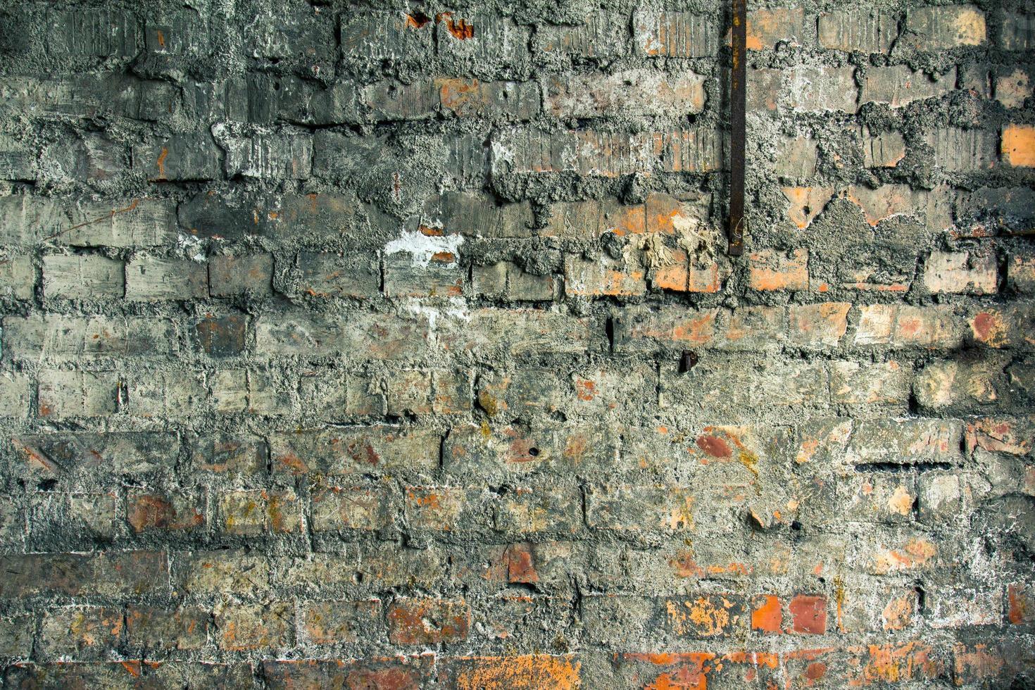 gammal tegelväggstextur foto