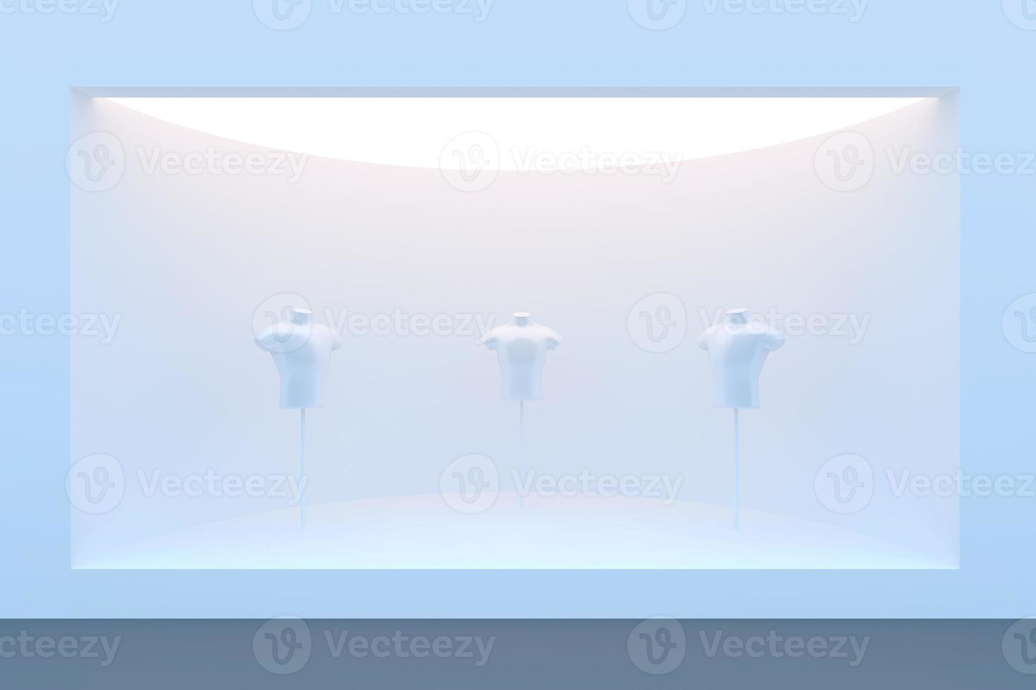 tom cirkelbutik eller podium med belysning foto