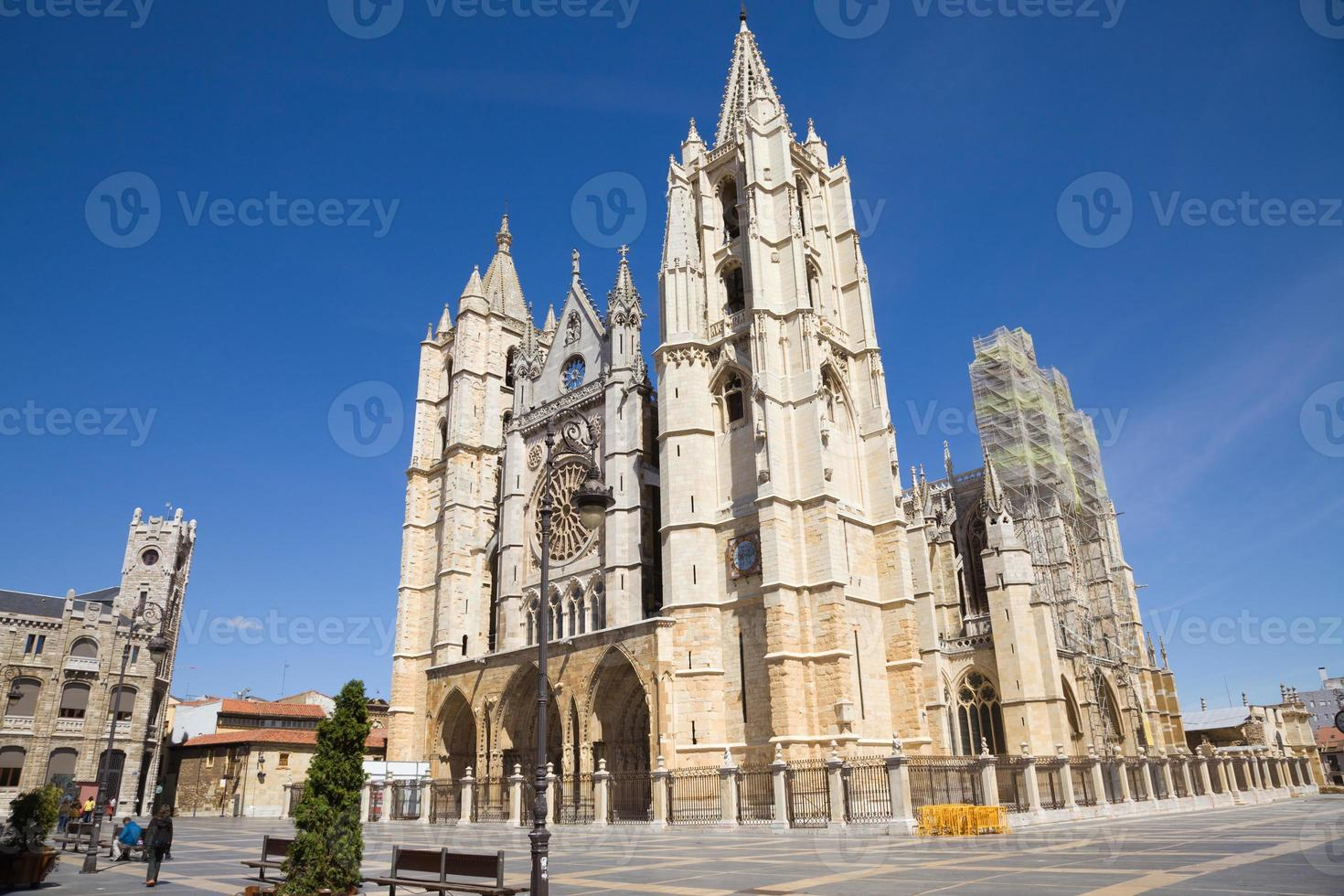 leon katedral, spanien foto