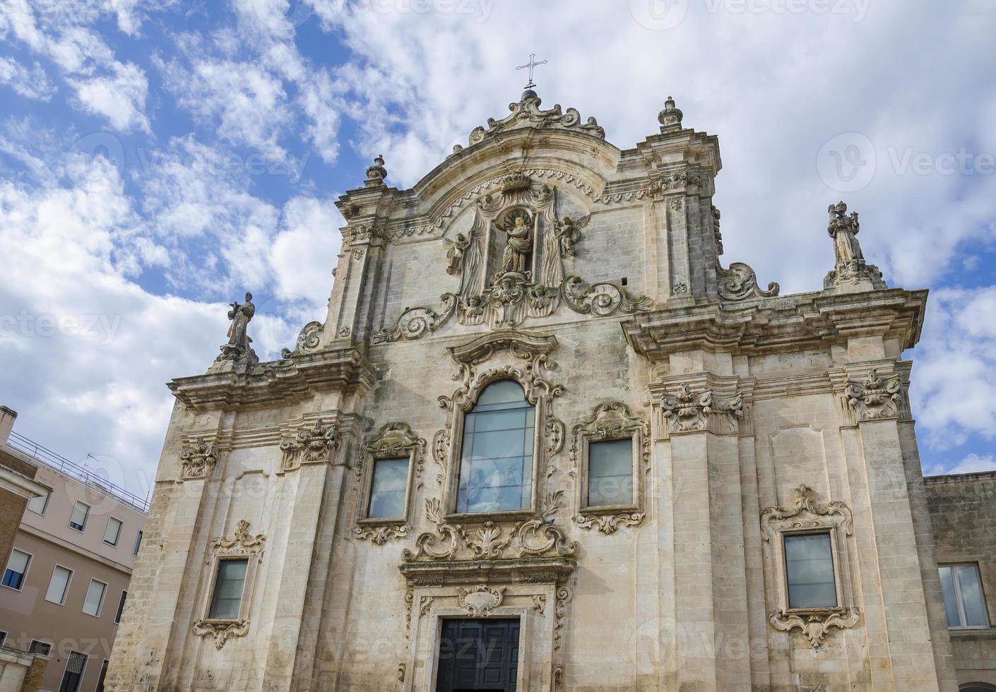 san francesco d'assisi kyrka i Matera, Italien foto