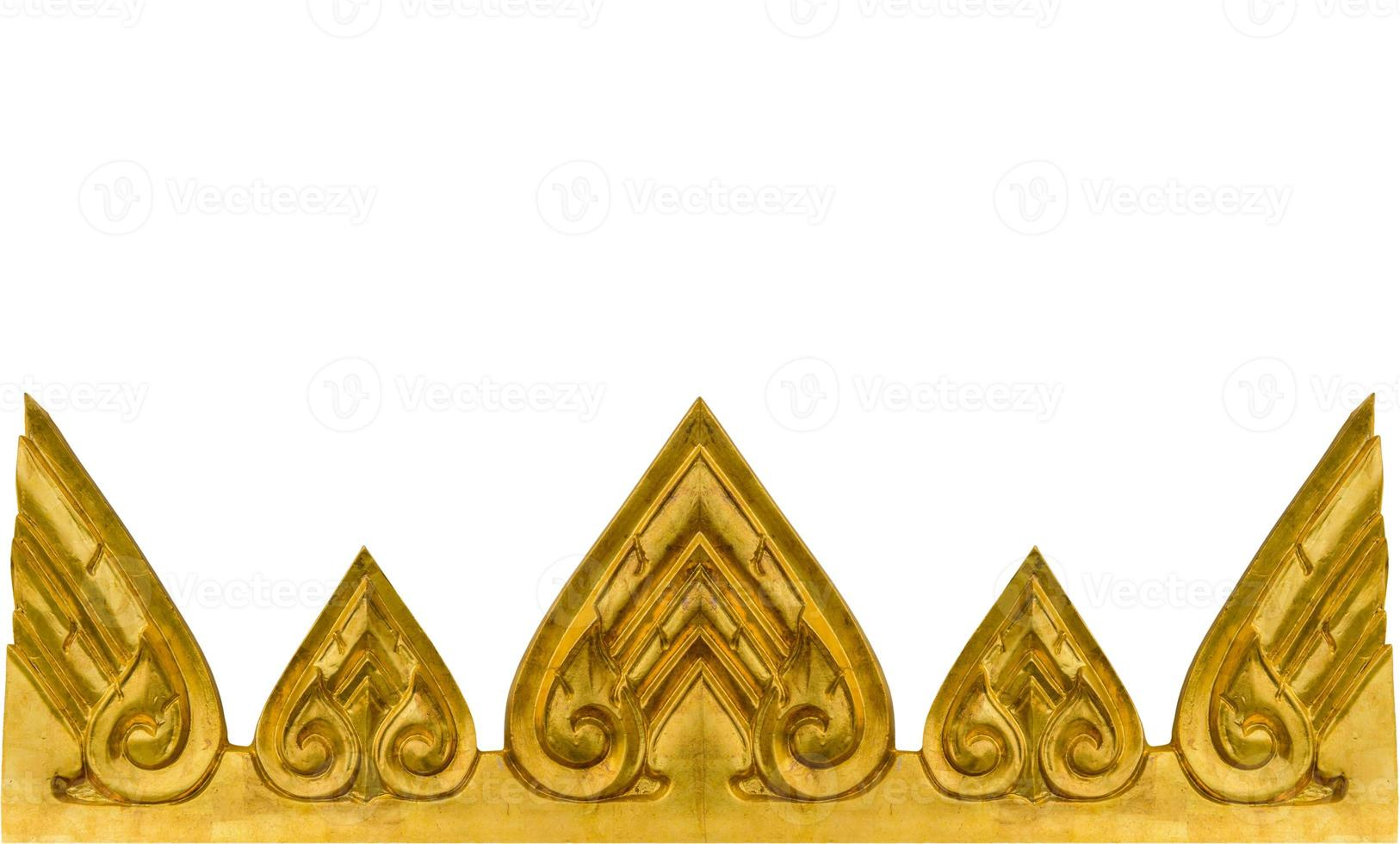 guld textur från väggen i thailändska tempel. foto
