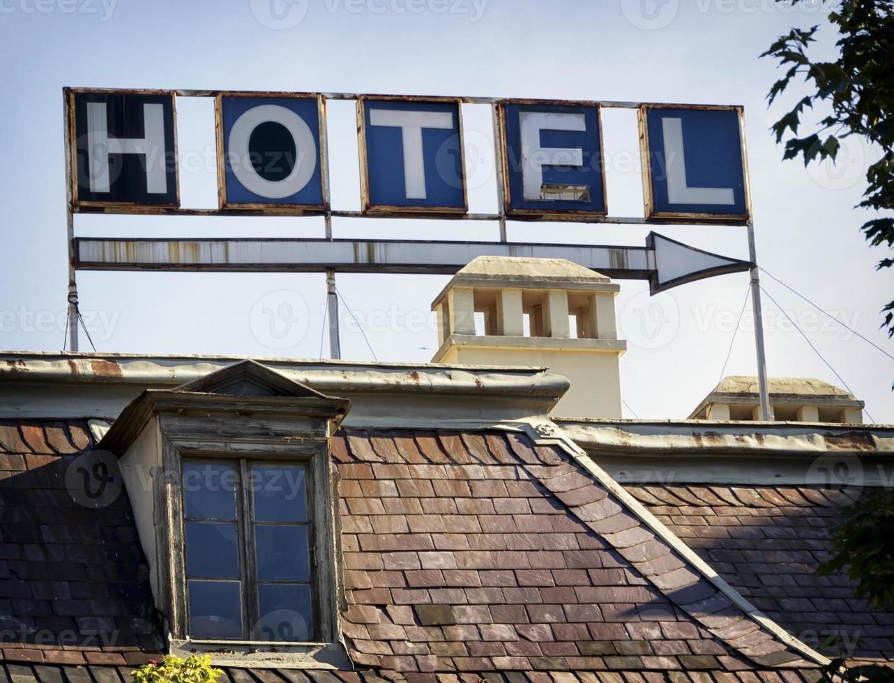 Hotell skylt foto