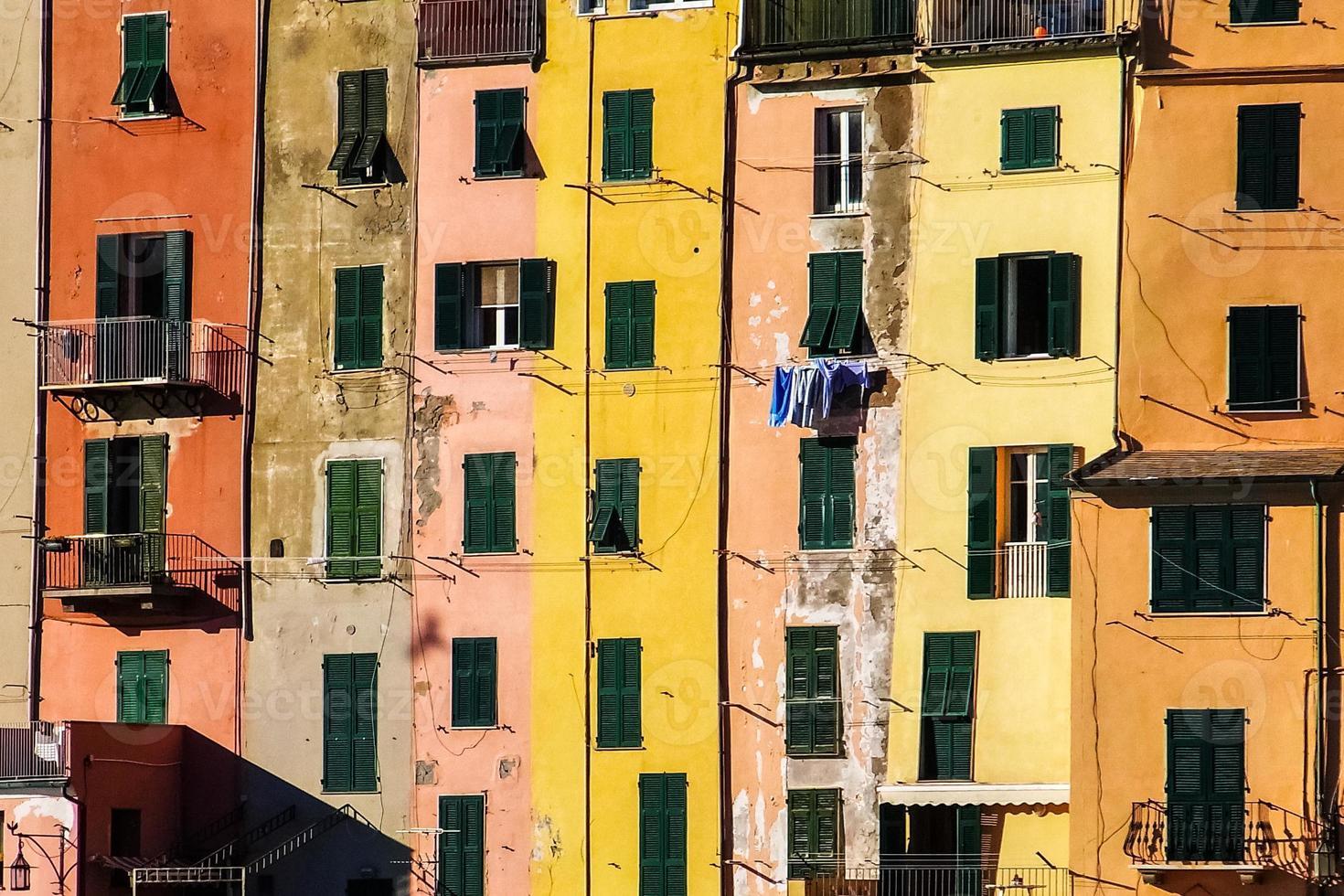 färgade hus foto