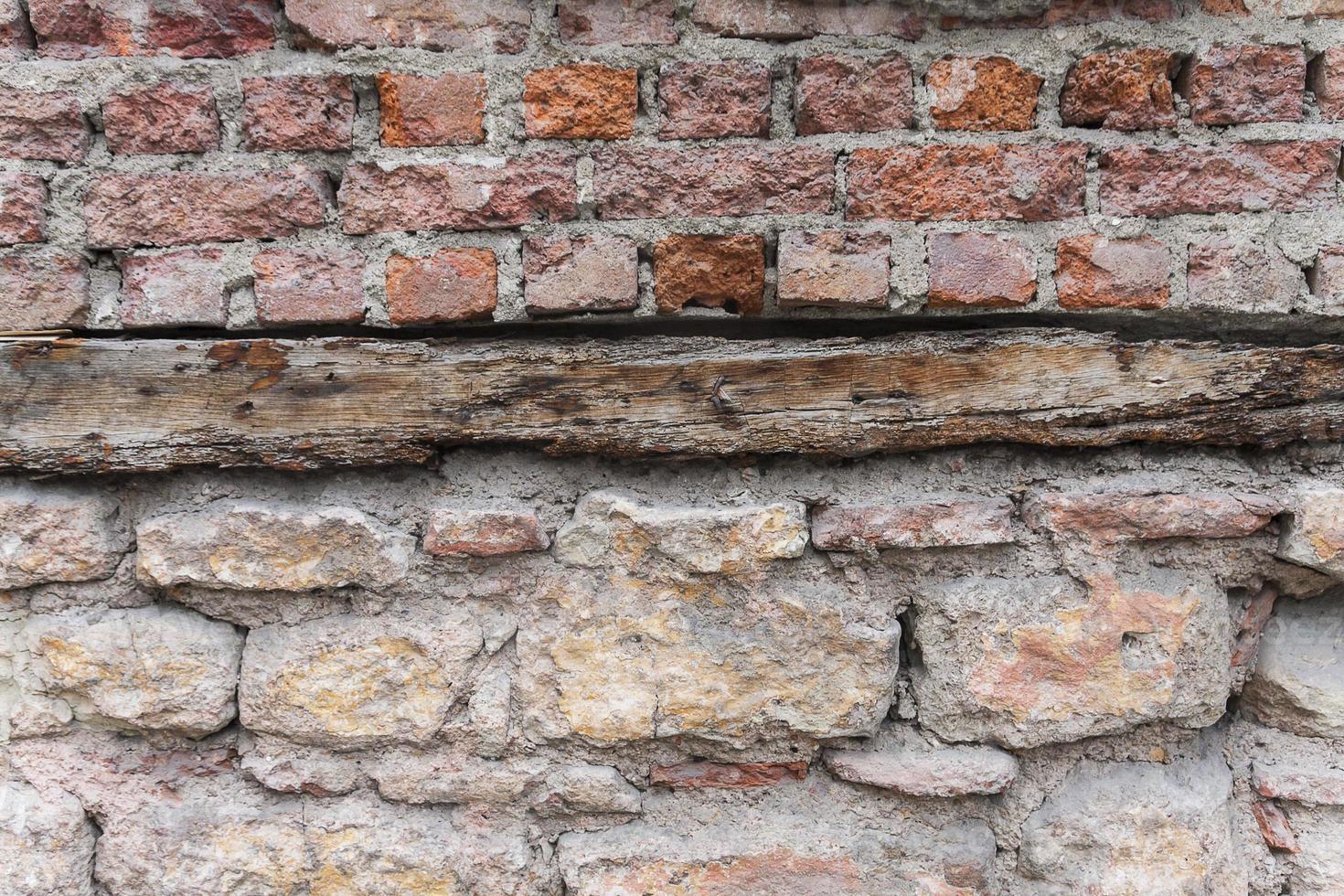 gammal tegelvägg foto