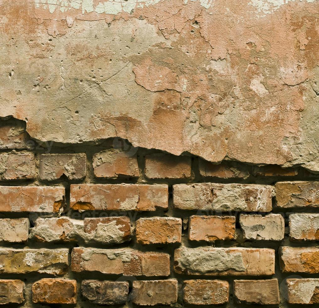 konsistens av den gamla gipsväggen foto