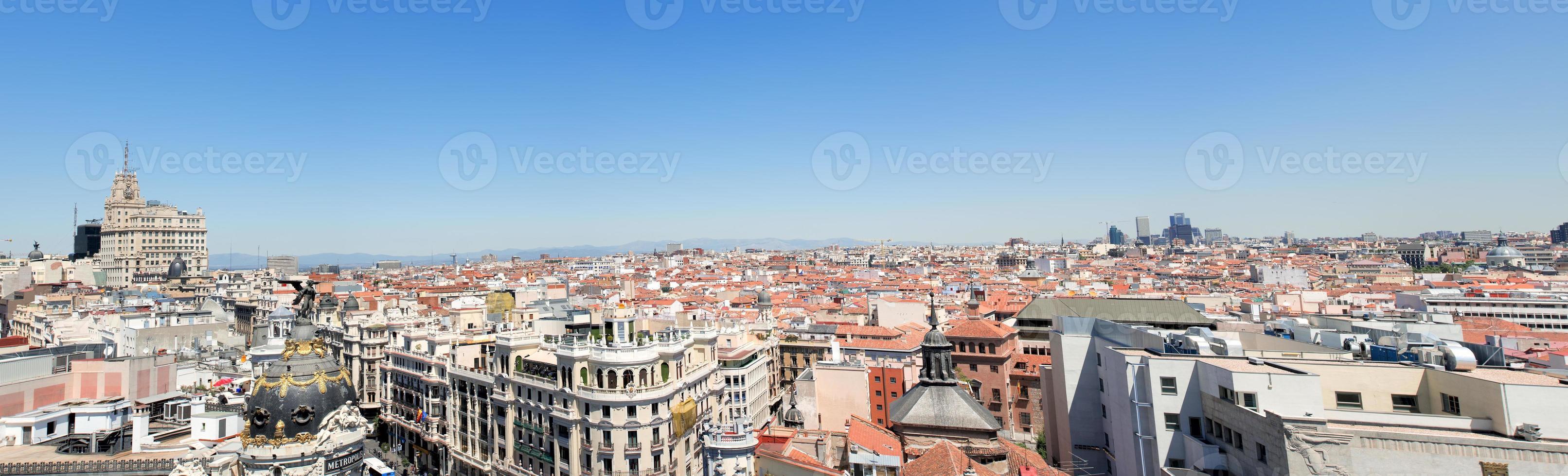 panoramautsikt över staden foto