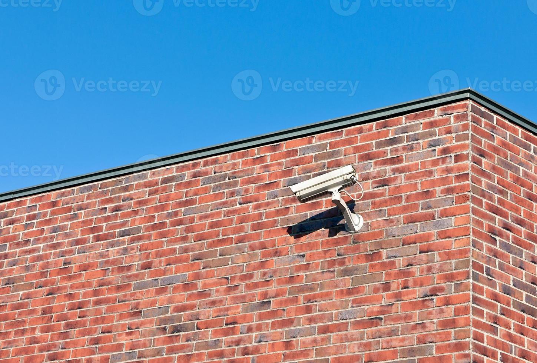 vit övervakningskamera foto