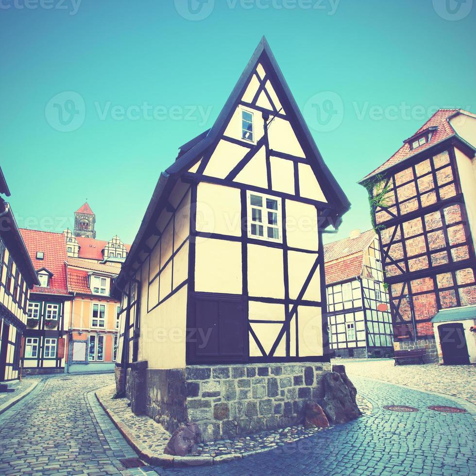 gammal gata i Tyskland foto