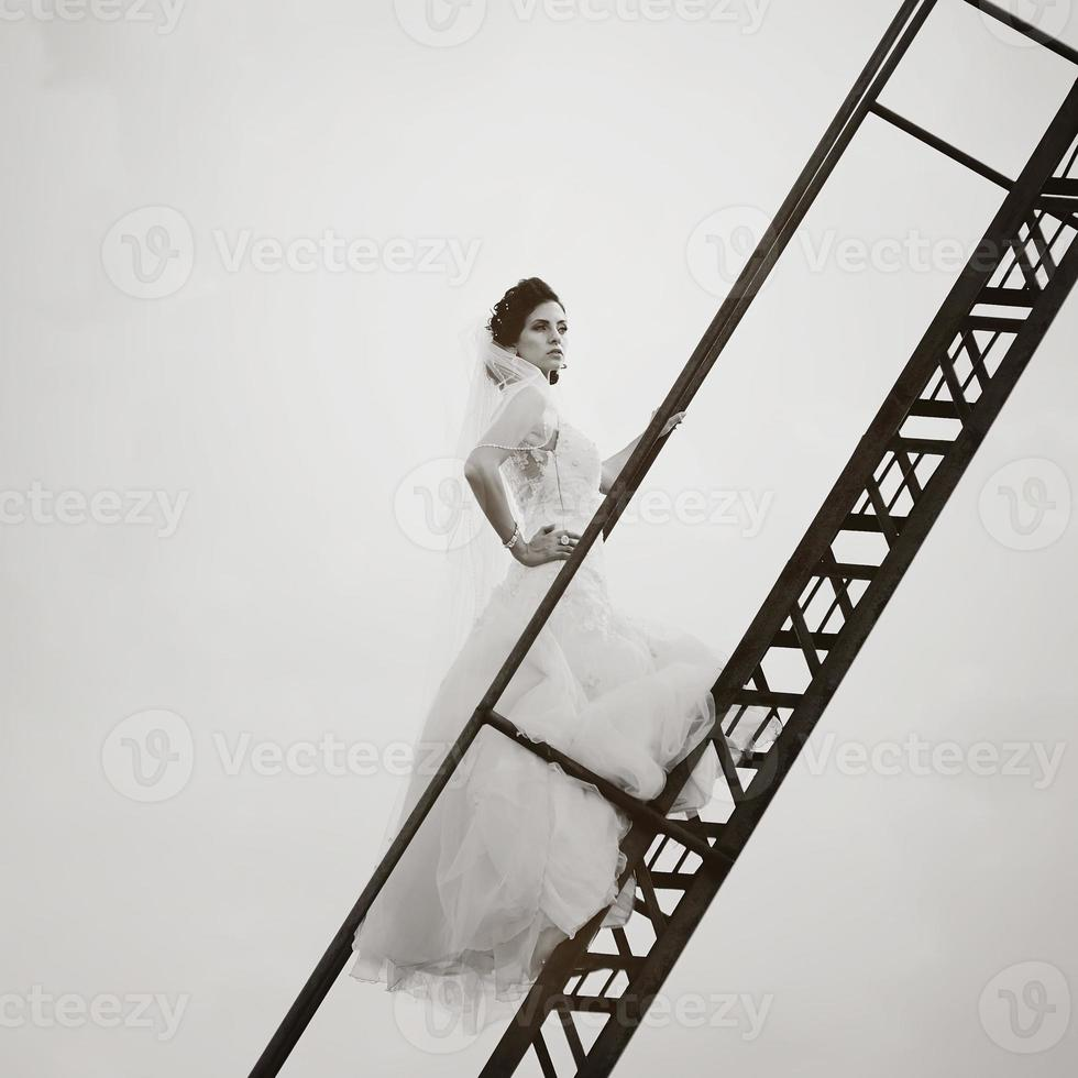 bruden går till himlen foto