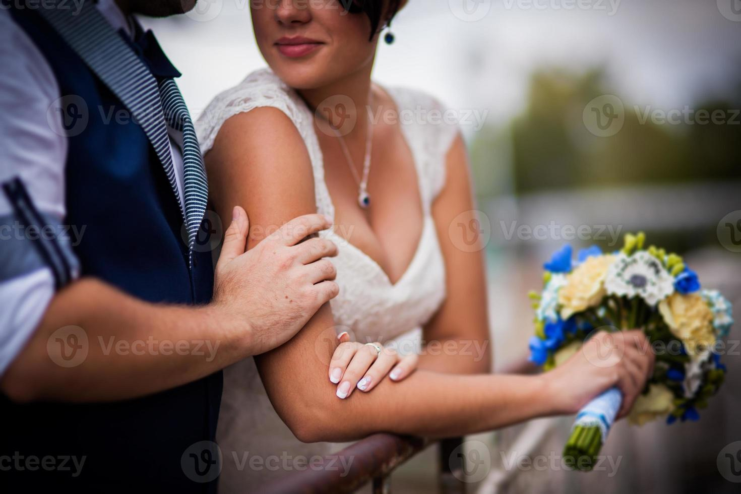 bröllop, båt foto