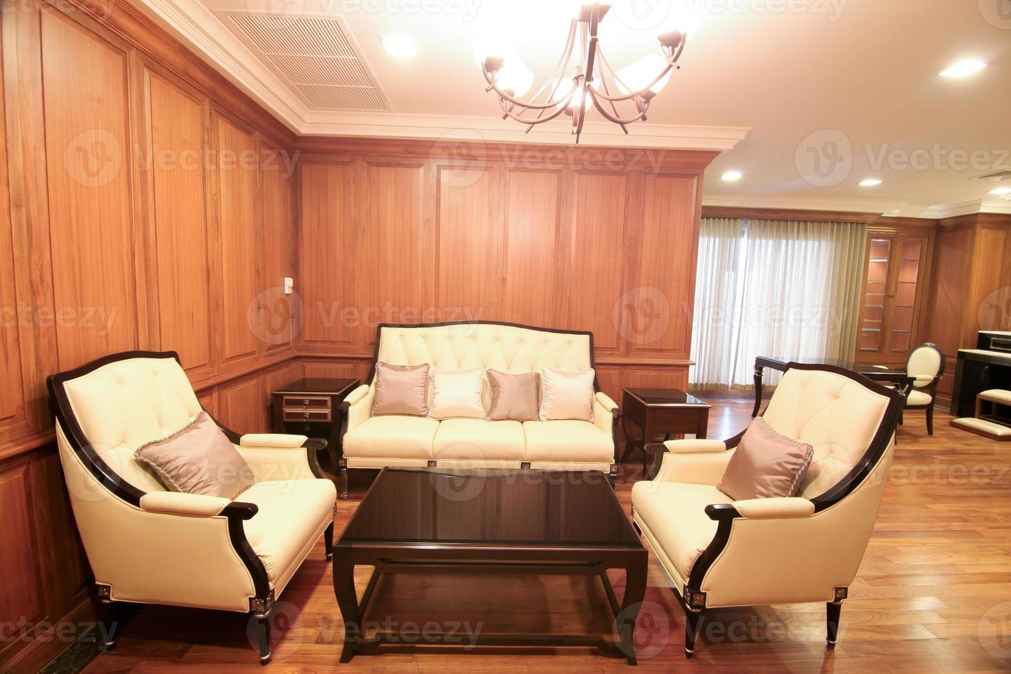 vardagsrum med en lyxig foto