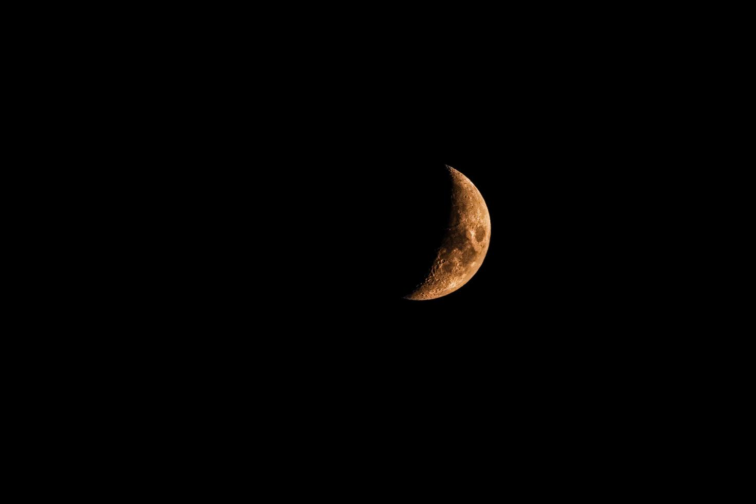 orange halvmåne foto