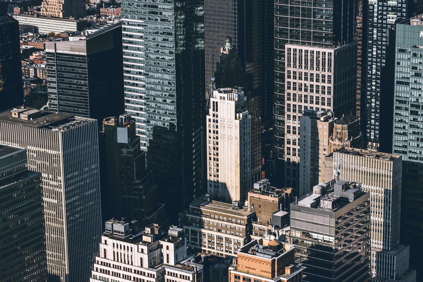 stad med höghus foto