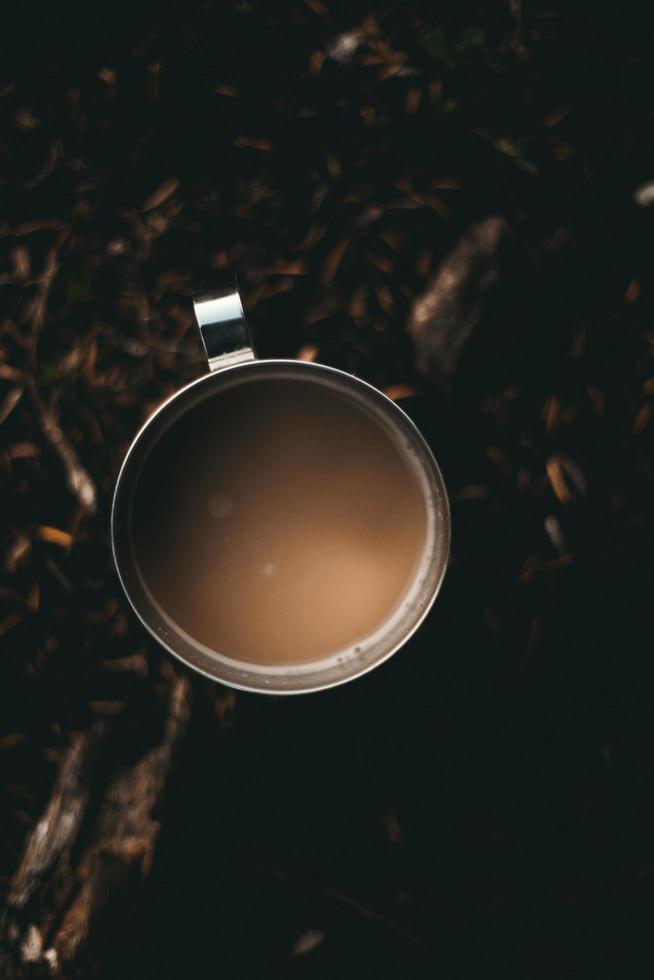 platt låg fotografering av kaffe foto