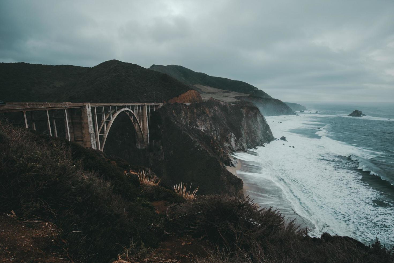 bixby creek bridge, california foto