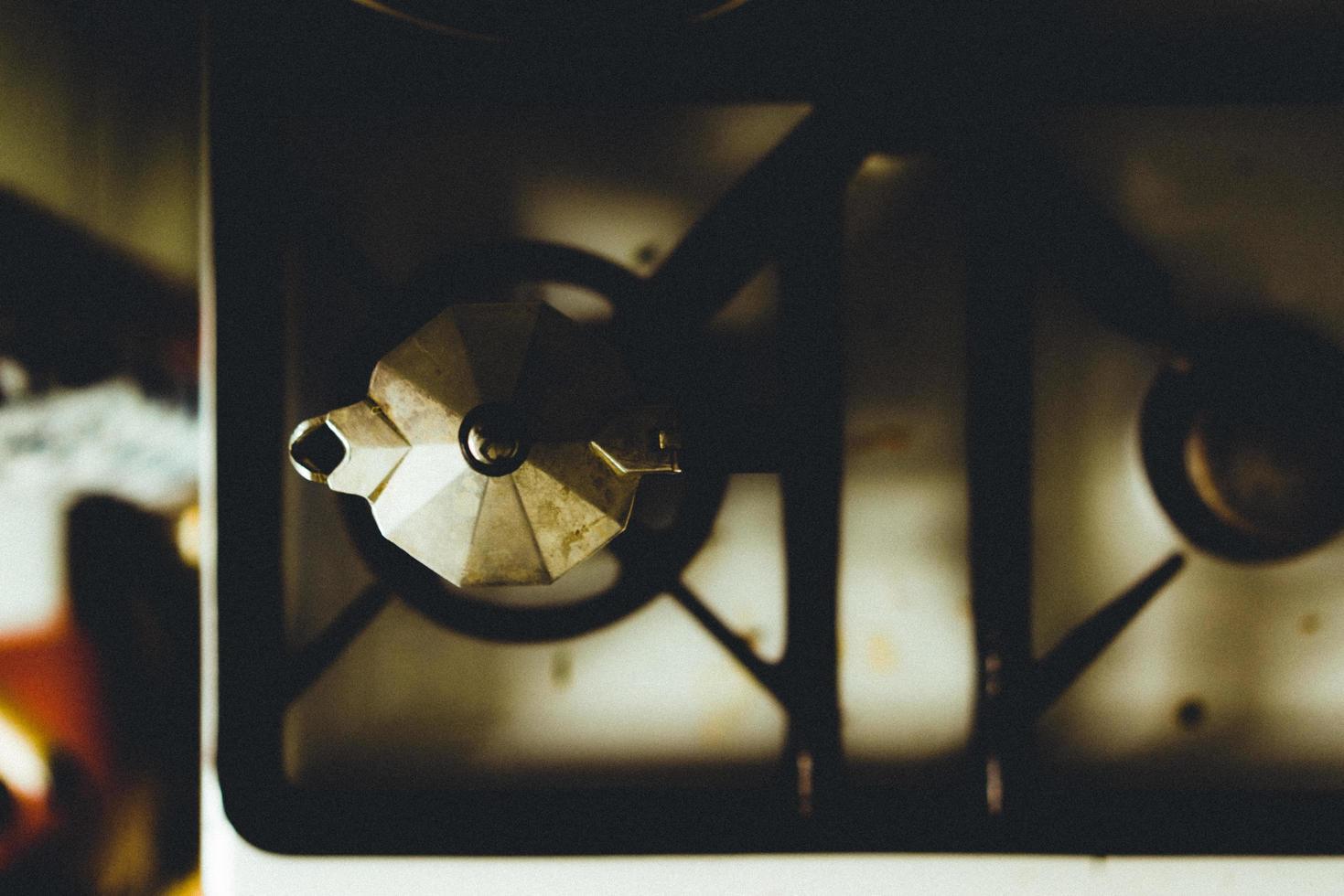 2-brännare gasspis foto