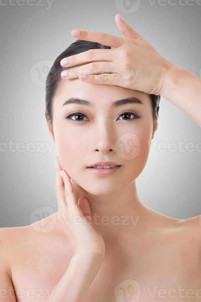 asiatisk skönhet ansikte foto