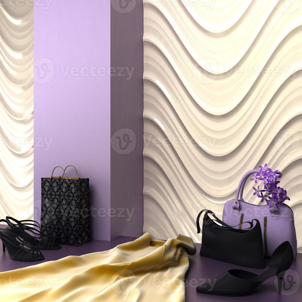 mode shopping showroom specialitet 3d-rendering foto