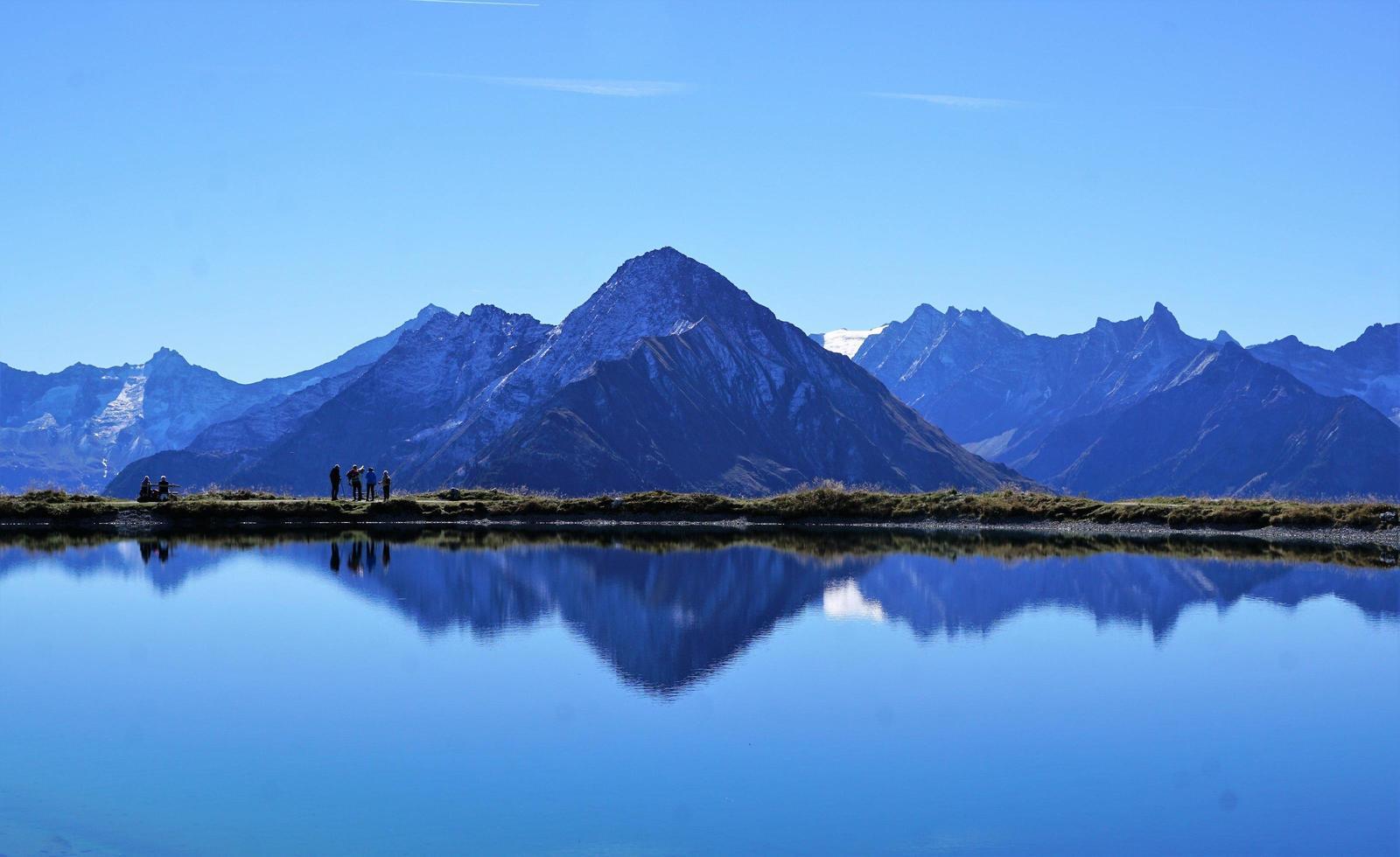 bergslandskap i Österrike foto