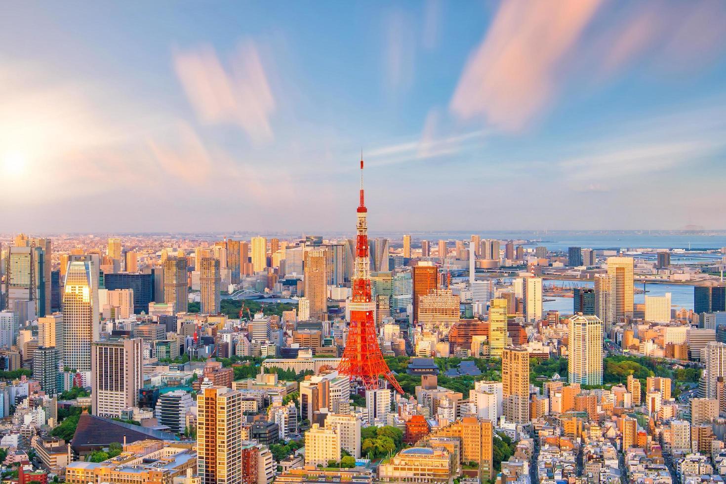 Tokyo stadshorisont foto