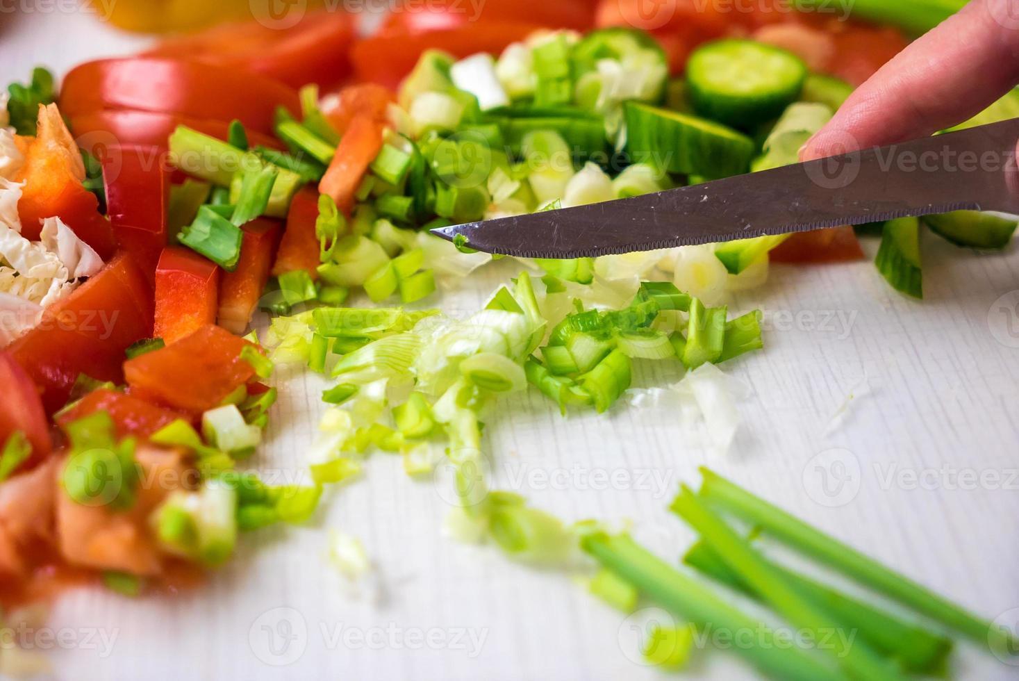 grönsaker i köket foto
