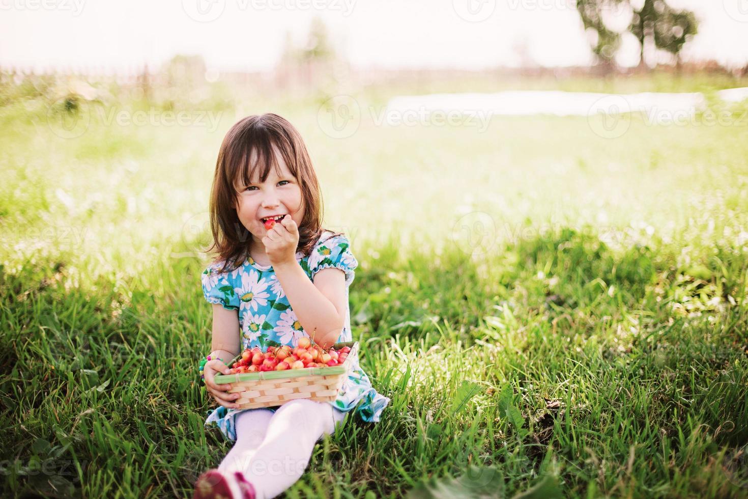 liten flicka. foto