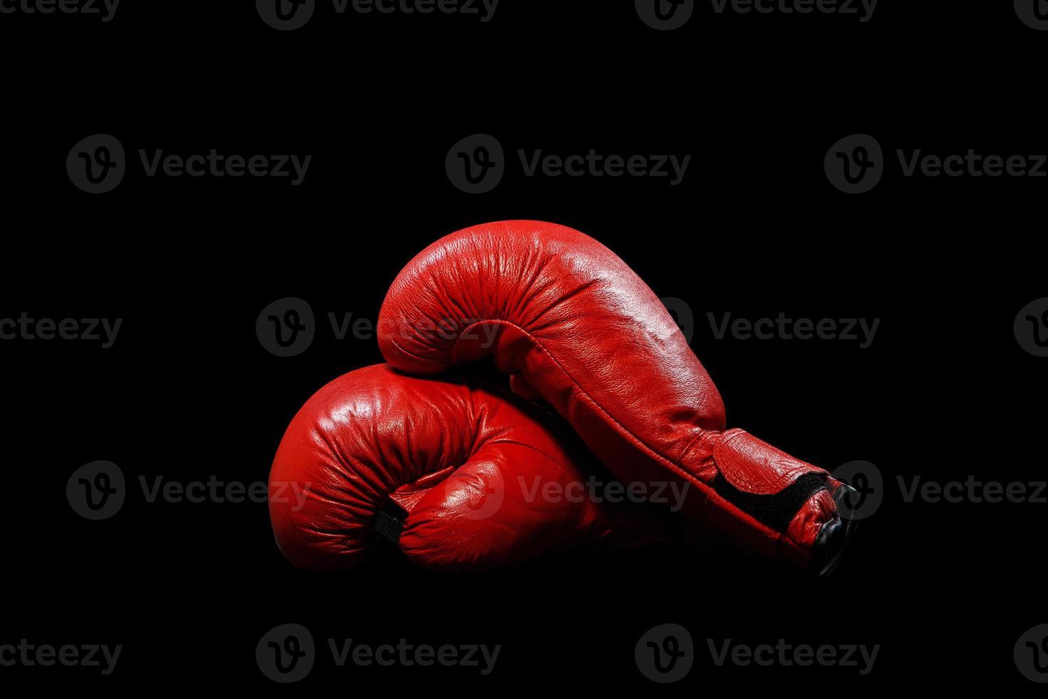 röda handskar foto
