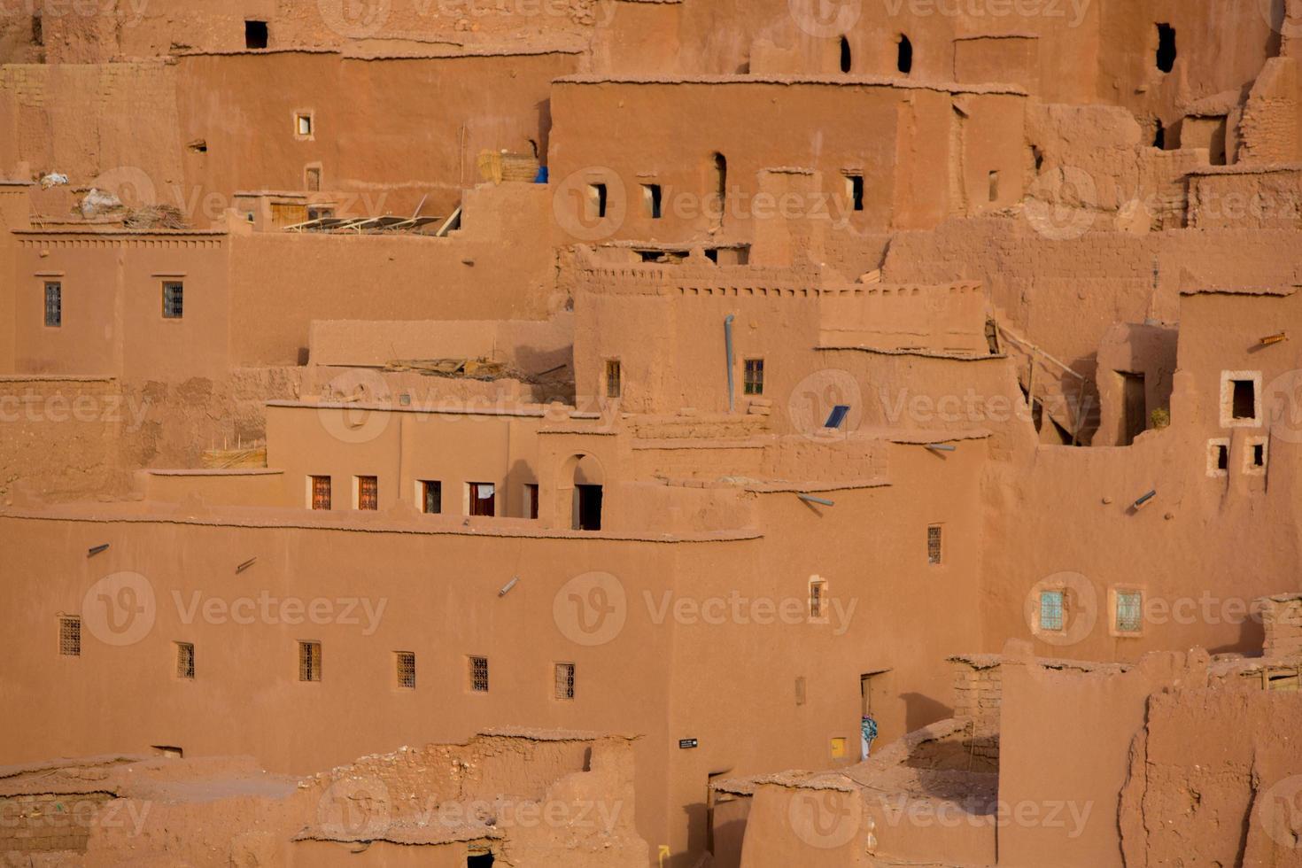 ait ben haddou medeltida kasbah i Marocko foto