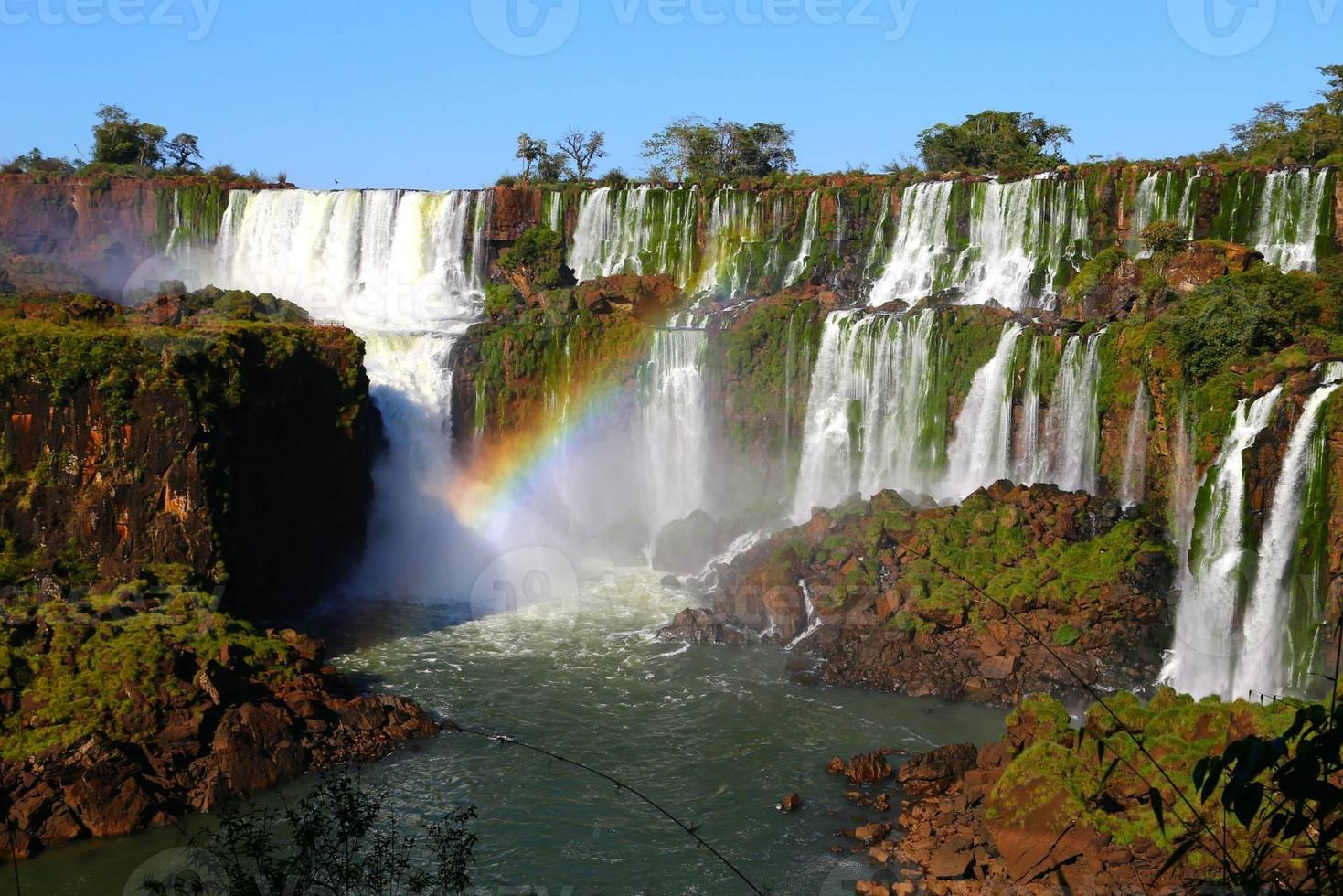 argentinska - chutes d'iguazu, parc national d'iguazu, iguassu, arc en ciel foto
