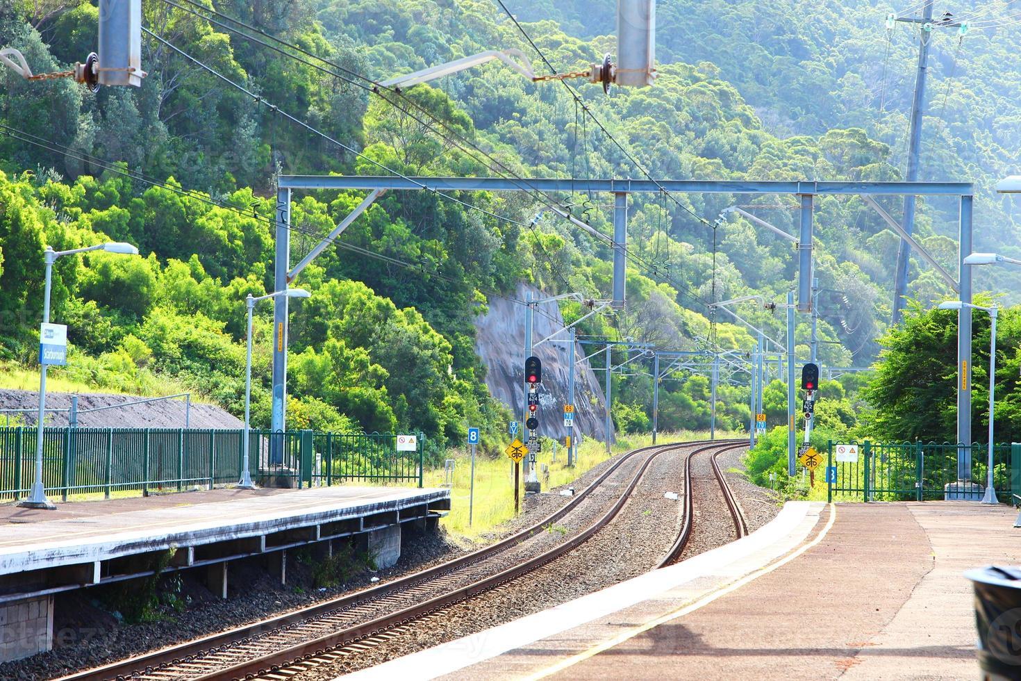 tågstation, australien foto
